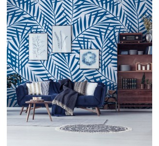 Blue Twigs Removable Wallpaper
