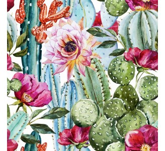Colorful Cacti Removable Wallpaper pattern