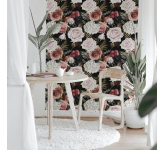 Majestic Bouquet Removable Wallpaper