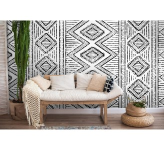 African Ethnic Removable Wallpaper full view