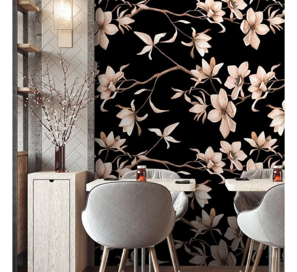 Magnolia Flowers Removable Wallpaper