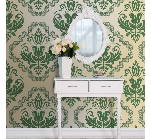 Luxury Green Removable Wallpaper
