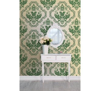 Luxury Green Removable Wallpaper full view