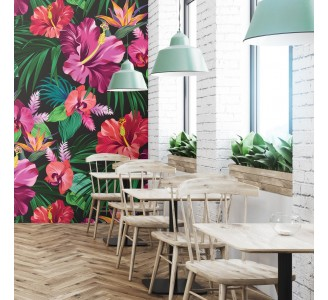 Exotic Flowers Removable Wallpaper