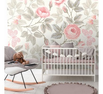 Soft Roses Removable Wallpaper