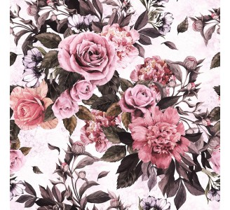 Vivid Bouquet Removable Wallpaper pattern