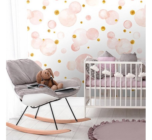 Pink Dots Removable Wallpaper