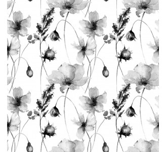 Summer Flowers Removable Wallpaper pattern