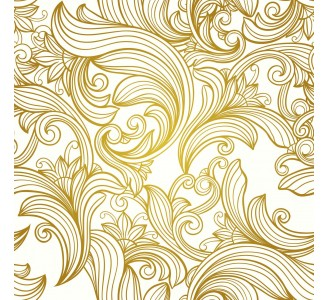 Gold Retro Lines Removable Wallpaper pattern