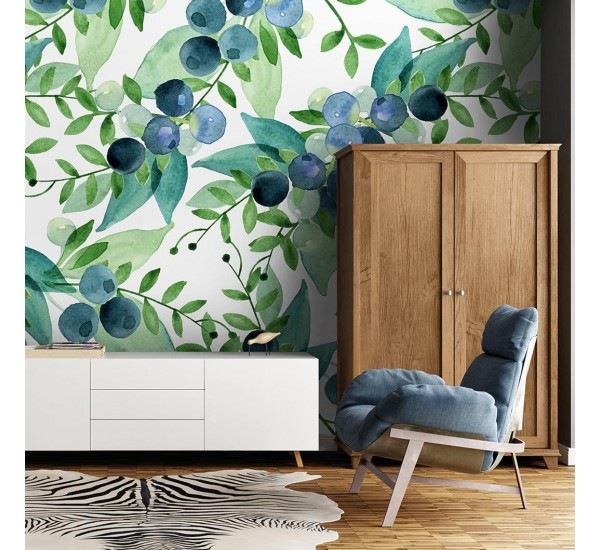 Blueberries Removable Wallpaper