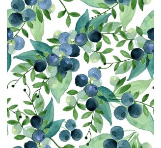 Blueberries Removable Wallpaper pattern