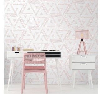 Soft Pink Triangles Removable Wallpaper