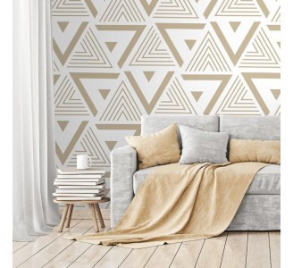 Gold Triangles Removable Wallpaper