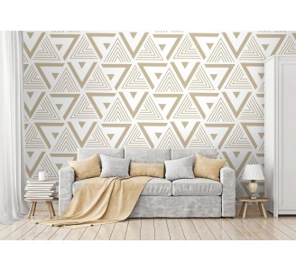 Gold Triangles Removable Wallpaper full view