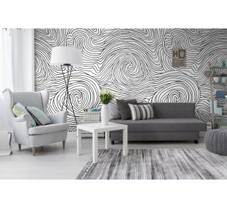 Swirl Line Removable Wallpaper full view