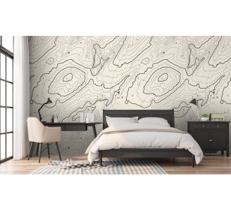 Topographic Map Removable Wallpaper bedroom