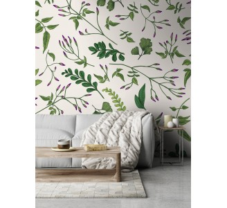 Green Plants Removable Wallpaper full view