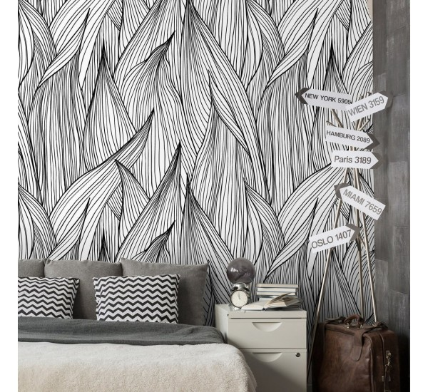 Flame Leaves Removable Wallpaper