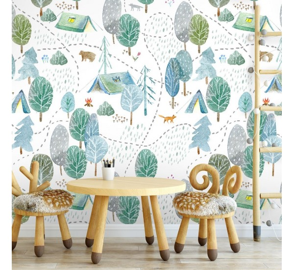 Forest Campside Removable Wallpaper