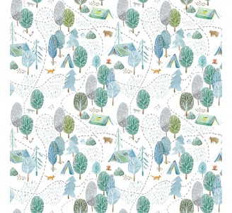 Forest Campside Removable Wallpaper pattern