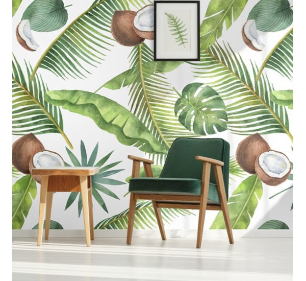 Tropical Coconuts Removable Wallpaper