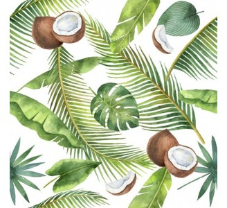 Tropical Coconuts Removable Wallpaper pattern