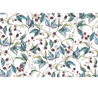 Blackberry Branches Removable Wallpaper pattern