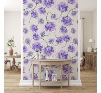 Purple Wild Flower Removable Wallpaper