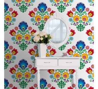 Folk Art Removable Wallpaper