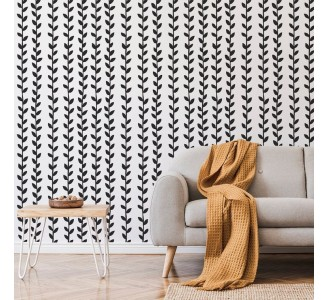 Branches with Leaves Removable Wallpaper