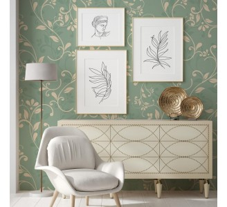Vintage Blooming Branches Removable Wallpaper