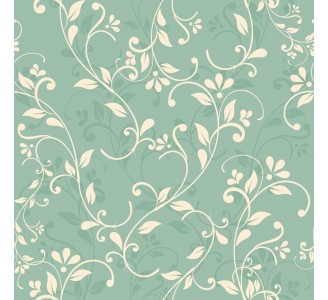 Vintage Blooming Branches Removable Wallpaper pattern