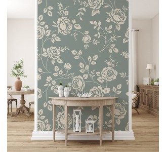 Beige Roses Removable Wallpaper