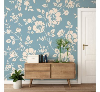Beige Poppies Removable Wallpaper