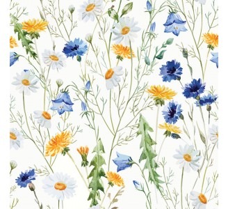 Country Wildflowers Wallpaper Removable Wallpaper pattern