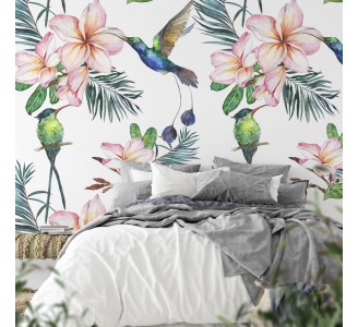 Colorful Hummingbird Removable Wallpaper