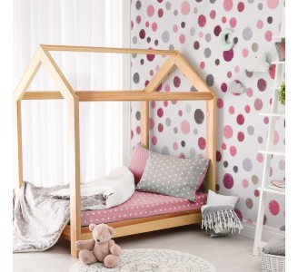 Hand Drawn Pink Dots Removable Wallpaper