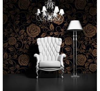 Vintage Roses Removable Wallpaper living room