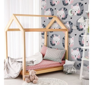 Sleeping Cats Removable Wallpaper