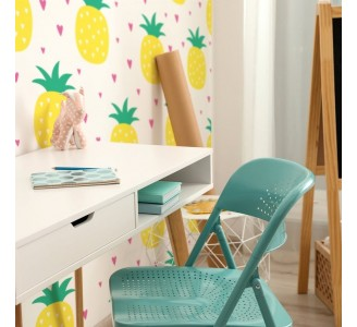 Cartoon Pineapples Removable Wallpaper
