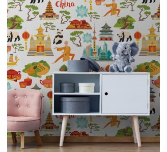 Chinese Theme Removable Wallpaper