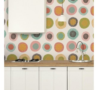 Colorful Sketchy Dots Removable Wallpaper