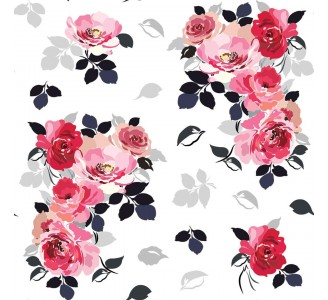 Watercolor Bouquet of Roses Removable Wallpaper pattern