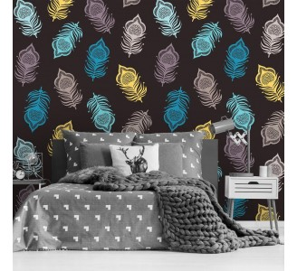 Tribal Ethnic Feathers Removable Wallpaper