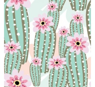 Lovely Cactus Removable Wallpaper pattern