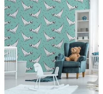 Origami Dinosaurs Removable Wallpaper