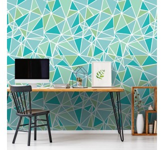 Mosaic Triangles Removable Wallpaper