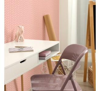 Pink Knitted Fabric Removable Wallpaper
