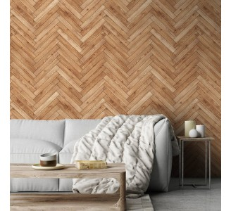 Bright Wood Parquet Removable Wallpaper