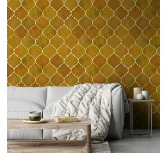 Yellow Moroccan Pattern Removable Wallpaper